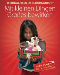 Flyer Weihnachten im Schuhkarton